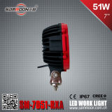 7 Inch 51W (17PCS*3W) Pencil/Flood Beam LED Car Driving Work Light (SM-7051-RXA)