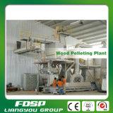 Boulette en bambou de sciure faisant la ligne projet de guichetier de granulatoire de biomasse