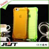 Caja suave antichoque del teléfono celular del amortiguador de aire TPU para el iPhone 6 6s