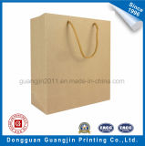 Llana simple de Brown Papel Kraft Bolsa de la compra con mango de PP
