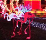 クリスマスの照明のシカのモチーフライト