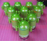 O Android Robot Mini Cartoon Bluetooth Sound Box MP3 Speakers