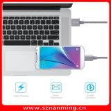 6FTのナイロン編みこみのマイクロUSBケーブル高速USB 2.0マイクロB同期信号への男性およびアンドロイドのための充満コード