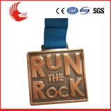 La coutume de qualité folâtre la médaille de marathon en métal