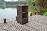 Fábrica de atacado Custom Rattan Wicker Wine Cabinet