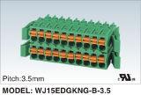 Conetor Pluggable/de encaixe nivelado dobro do bloco terminal (WJ15EDGKN-B-3.5)
