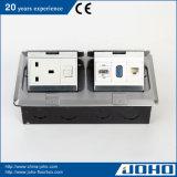 IP44 de waterdichte Doos van de Vloer van de Toegang van het Aluminium en de Britse Afzet CAT6 HDMI van de Contactdoos van het Bureau 13A
