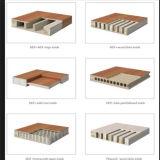 Porte en bois solide extérieure d'intérieur en bois