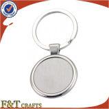 La pubblicità all'ingrosso del tondo muore il metallo normale Keychains su ordinazione poco costoso (FTKC1712A) del getto