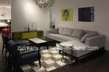 Mobília de estilo moderno Mobília de sofá de tecido de madeira (D-68)
