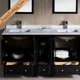 Armário de madeira contínuo moderno da vaidade do banheiro do estilo de America do Norte