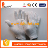 Calibro 7 con 2 guanti Dck702 del lavoro del cotone del candeggiante dei filetti