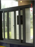 Puder Coated Crescent Lock Aluminum Sliding Window mit Tempered Glass