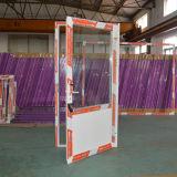 Porte en aluminium de tissu pour rideaux avec la glace triple et le panneau en aluminium composé K06040