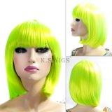 다채로운 일본 Synthetice Bobo 머리 가발
