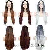 Perruque droite de gradient synthétique de cheveu de Cosplay Lolita longue