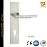 Zink Alloy Zamak Door Lock Lever Handle auf Plate (7005-Z6014)