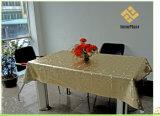 Nappe gravée en relief par or de PVC avec le support de tissu