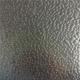 Plaque en aluminium gravée en relief avec la configuration de diamant