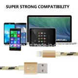 De nylon Gevlechte Kabel van de Lader van het Aluminium USB Snelle voor iPhone