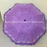 Parapluie se pliant avec l'impression enduite et entière de couleur de panneau