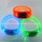 Напечатанный браслет проблескового света СИД подарков промотирования с логосом (4011)