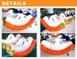 Único jogo inflável do Totter do Teeter da água no mar