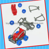 Bestes verkaufendes lustiges Mini-DIY Montage-Ausstoßen-Plastikauto-Spielzeug