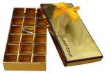 Caja del chocolate con la ventana y 18 divisores
