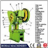 Máquina da imprensa de poder de J23-100t, máquina de perfuração da placa, Abrir-Tipo imprensa de poder Inclinable J23-100t