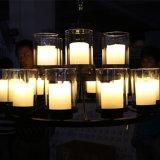 Lâmpada de vidro desobstruída européia decorativa do pendente dos candelabros dos candelabros do hotel