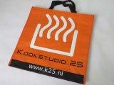 Sacos de compra tecidos do logotipo plástico barato relativo à promoção