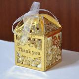 2015 décorations Wedding de mariage de coupe de laser de «feuilles» de boîte de faveur