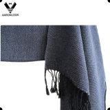 Abrigo controlado de acrílico de la bufanda de los hombres con las franjas