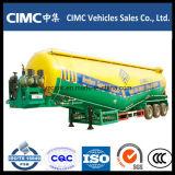 Cimc三車軸60トンの大きさのセメントタンクトレーラー
