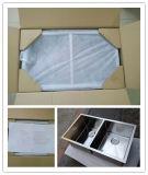 두 배 사발 Handmade 수채, 주문을 받아서 만들어진 스테인리스 수채, 둥근 구석 Handmade 수채 Hmrd3320L
