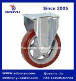 Parte girevole Caster con Stud Polyurethane Wheel Double Bearing