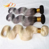 Trama bionda dei capelli umani del Malaysian 100% dei capelli di colore chiaro