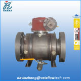 4 pollici Class 600 rf Estremità A105 Dbb Trunnion Mounted Full Weld Pipeline Ball Valves con Gearbox