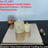 4mm Large Squareライト茶色のGlass Candle Holder