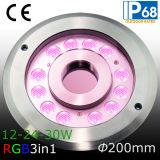 IP68 30W het Licht van RGB LEIDENE Ring van de Fontein