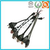 Chicote de fios de cabo envolvido PVC leve do chicote de fios H4 do fio do carro do conjunto