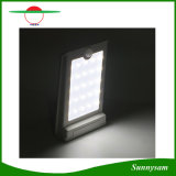 Iluminación al aire libre impermeable montada en la pared para la luz sin hilos accionada solar del sensor de movimiento de la seguridad del jardín 16 LED