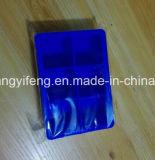 Seis quadrados deram forma ao molde da bandeja do cubo de gelo do silicone