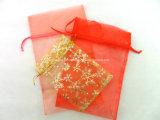 Saco barato simples feito sob encomenda de Organza do presente do Natal