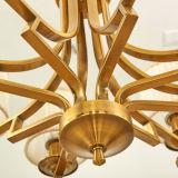 Tela da alta qualidade e luz material do pendente da luz do candelabro do ferro para a decoração Home