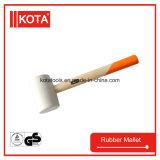 Белый резиновый мушкел с ручкой золы