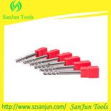 herramientas de aluminio el moler de final del alto de la dureza 8-3f carburo sólido del tungsteno