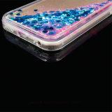 卸し売り液体オイルのきらめきの流砂のiPhone5/6/6plusのための透過電話箱