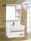 Vaidade branca do banheiro do PVC combinado/banheiro do PVC gabinete